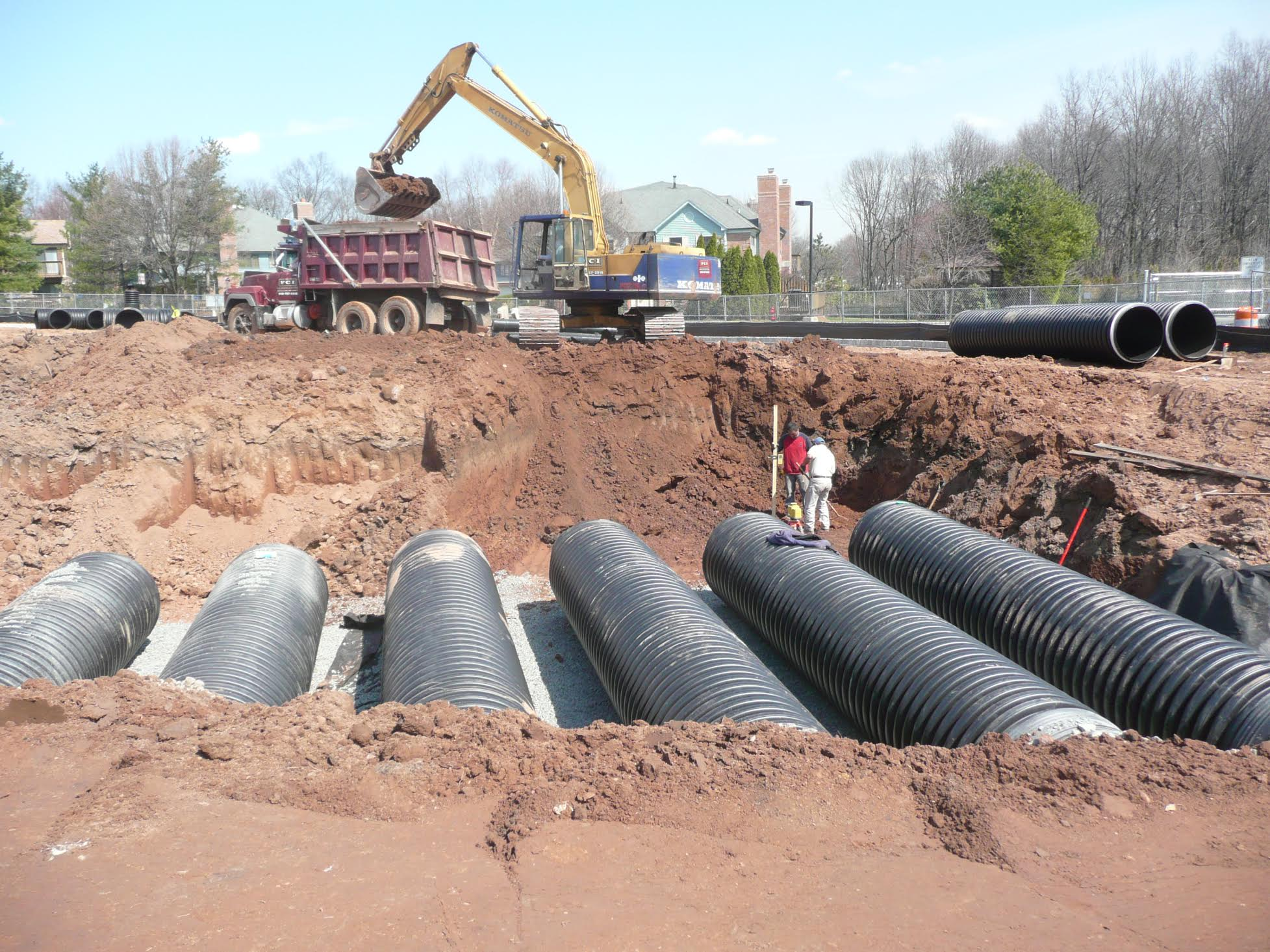 drainage pipe installation somerset county nj